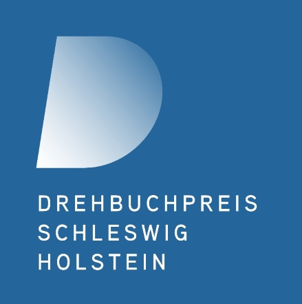 Logo Drehbuchpreis Schleswig-Holstein - Blauer Hintergrund